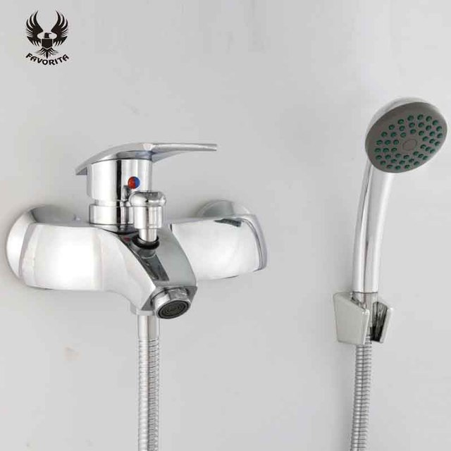 Favorita Electroplate Cold And Hot Bathroom Water Tap Wall Mounted ...