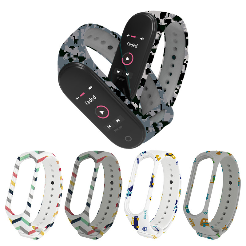 For Miband 4 Strap Accessories Replacement Silicone Varied Wrist Strap For Xiaomi Mi 3 4 Smart Bracelets Watch Case