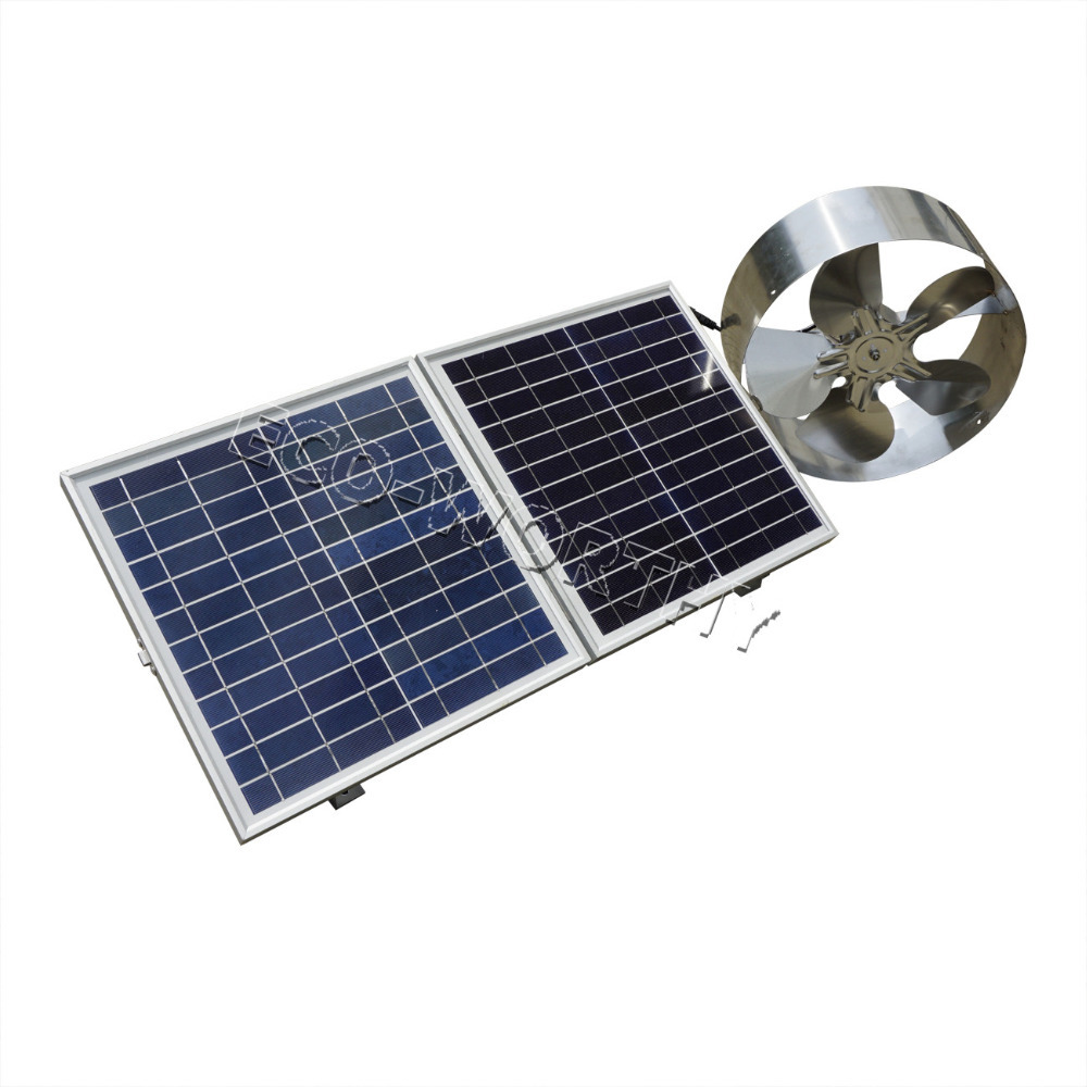 Solar powered attic fan review - New 25w Solar Powered Attic Ventilator Gable Roof Vent Fan With 30w Foldable Solar Panel
