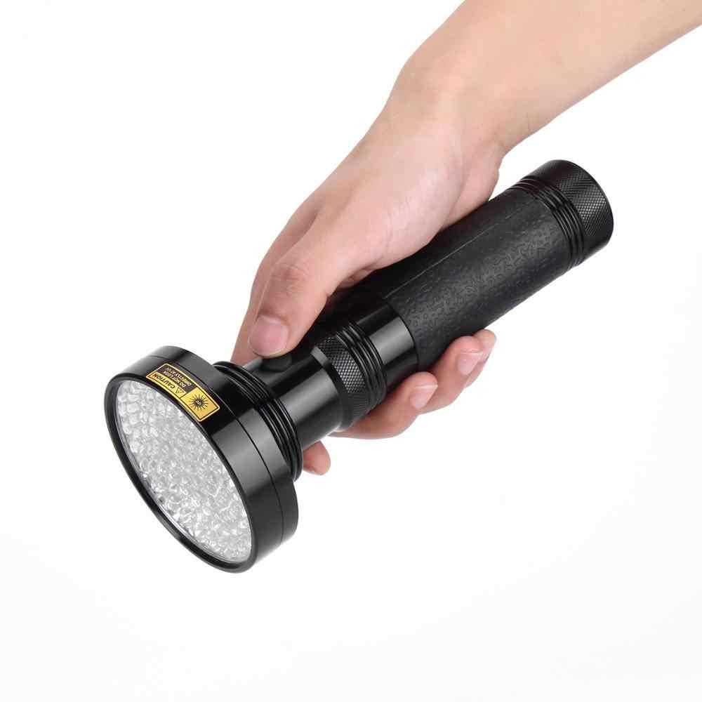 ALONEFIRE 100 светодиодный высокой мощности УФ-свет 395nm Ультрафиолетовый фонарь Скорпион для кота собаки домашнего животного мочи деньги фонарь детектор лампа AA ячейка