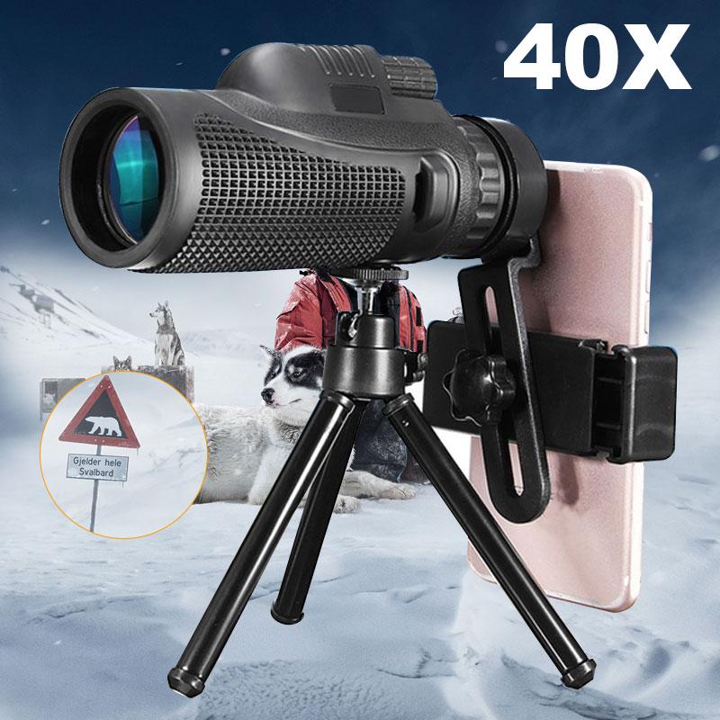 40X Zoom Monocular Telescopio del teléfono móvil lente 40x60 para Iphone Huawei Xiaomi teléfonos inteligentes teléfono lentes de cámara de caza al aire libre