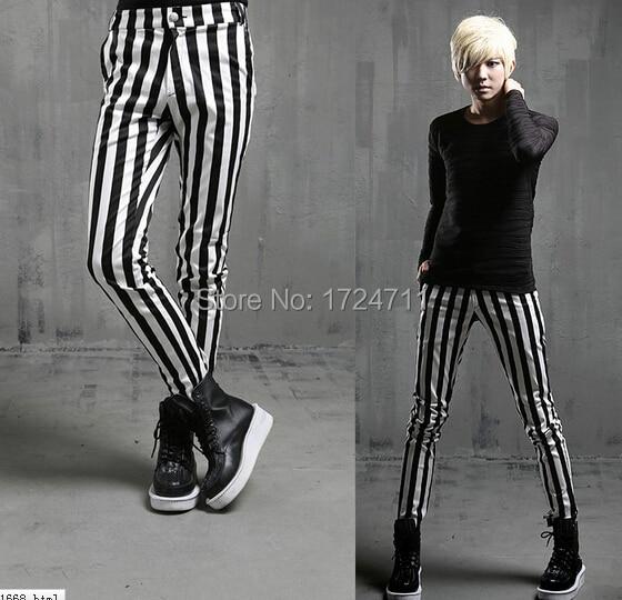 Mens Striped Leggings