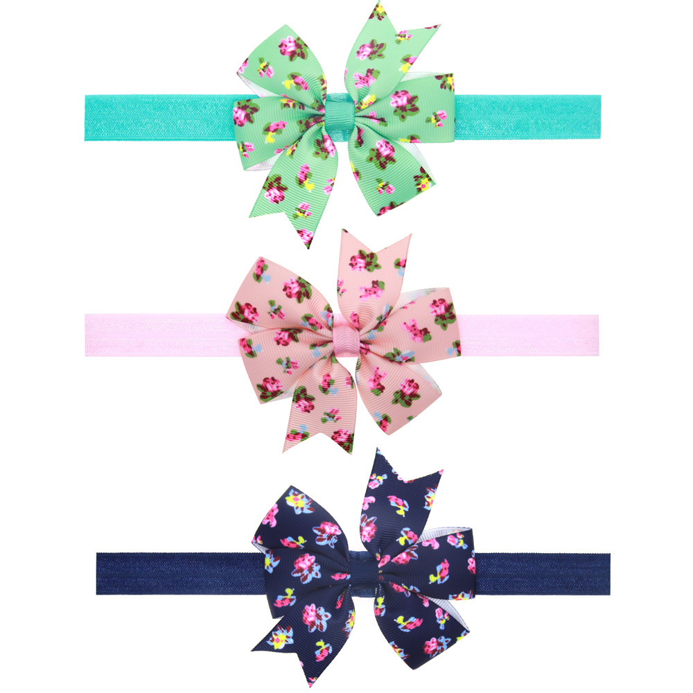 1 Piece MAYA STEPAN Children Printed Bow Hair Head Band Knot Accessories Baby Newborn Girls Hair Rope Headband Headwear Headwrap 3pcs lot lovely printed floral fabric bow headband striped dots knot elastic nylon hair band for girl children headwear