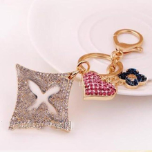 Free Shipping! Fashion High-quality Big FOX Hair Ball Pearl Bowknot Bag&Car Keychain Wholesale and Retail Bag Charms Keychain th16 50 free shipping high quality lady italian matching shoes and bag set for wedding and party in wholesale
