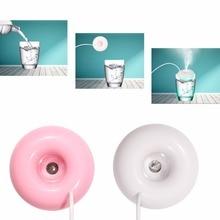 Anti-dust & Moisturizing 5CM Mini USB Donut Humidifier Colorful lights Air Purifier Aroma Home Car Portable