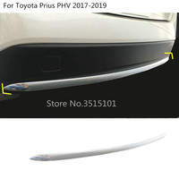 car Styling body cover protection Bumper ABS Chrome trim rear back tail bottom 1pcs For Toyota Prius PHV 2017 2018 2019