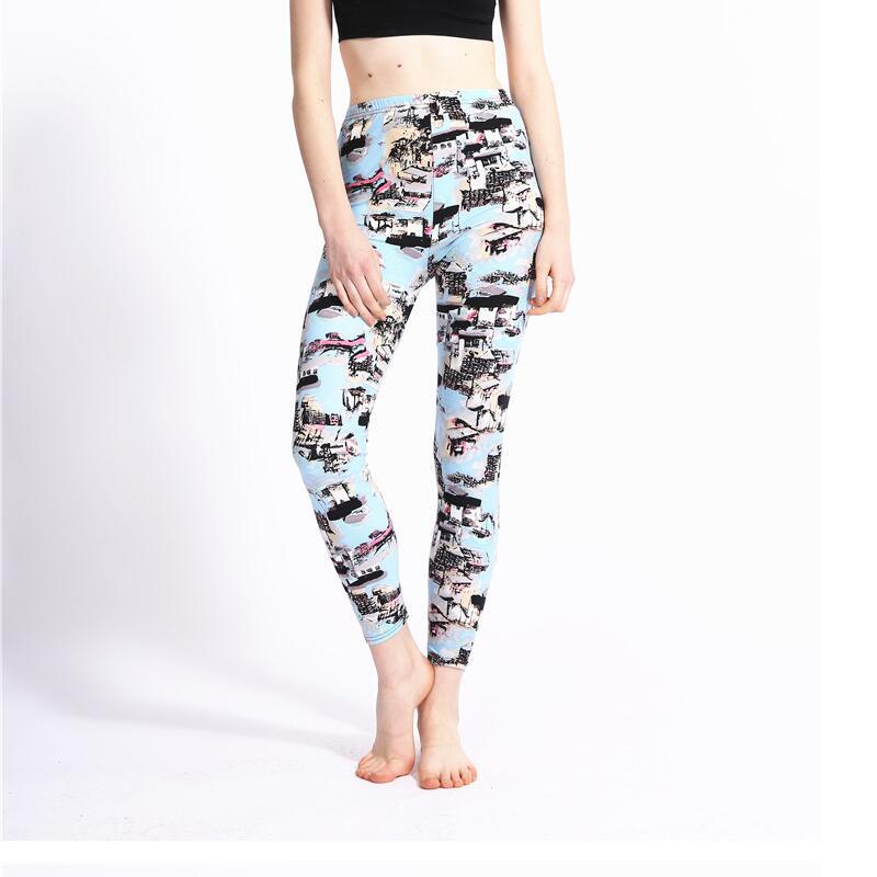 2019 New Arrive Fashion Women leggings Retro Flowers Floral Print color Stretch leggins pant legging for Woman