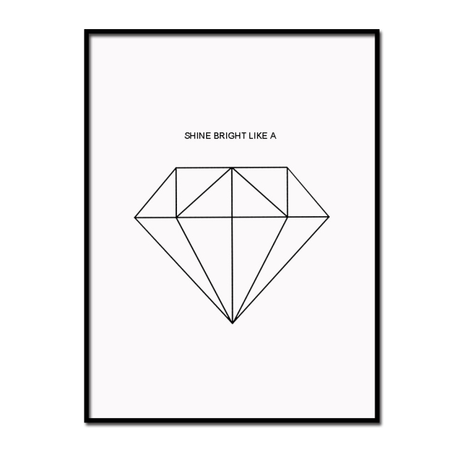webster different products john diamond diamonds poster quote design minimalist