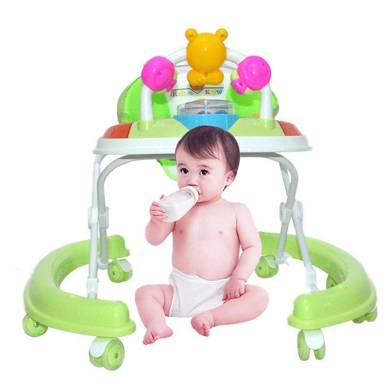 где купить Baby Walker Toddler Walker Toy  Baby Walker Wheels Toddler Safety Seat Music Activity Toy Play Adjustable Walking Assistant Tool по лучшей цене