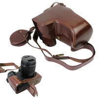 pu Leather case Camera Bag Cover For Panasonic GH5 GH 5 Lumix GH5 portable pouch With Storage Case Bottom Opening