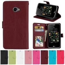 Housse de protection en cuir pour LG K5, étui portefeuille de luxe rétro pour téléphone K5 X220 X220DS, 5.0 pouces