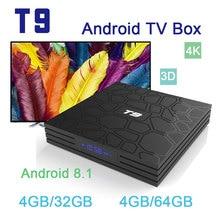T9 Android 8.1 TV Box 4GB RAM 32GB/64GB Rockchip RK3328 1080P H.265 4K Google Player Store Netflix Youtube TVBOX pk Mi