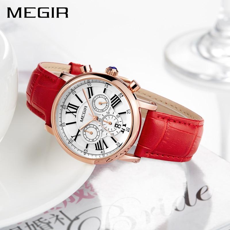 d7939cd2b6fb Reloj MEGIR de las mujeres de la moda relojes de pulsera superior de ...