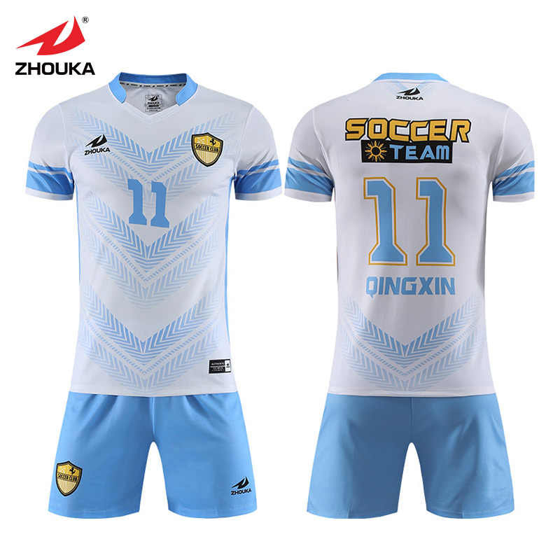 9bca6a3ed92 Zhouka Professional Custom Futbol Club Team Uniform Clothes Sublimation  Soccer Jersey Sets For Men Breathable Football