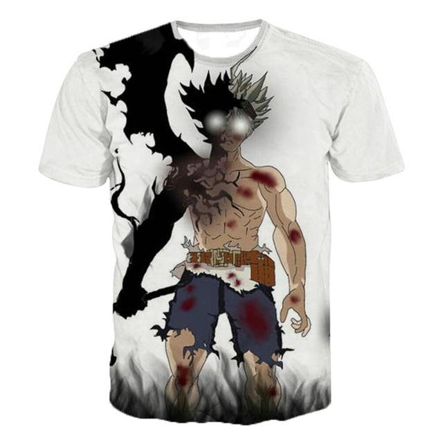 2019 Latest Harajuku Style T Shirt Men/women Anime Black Clover 3D Printed T-shirts Casual Hip Hop Tshirt Streetwear Summer Tops