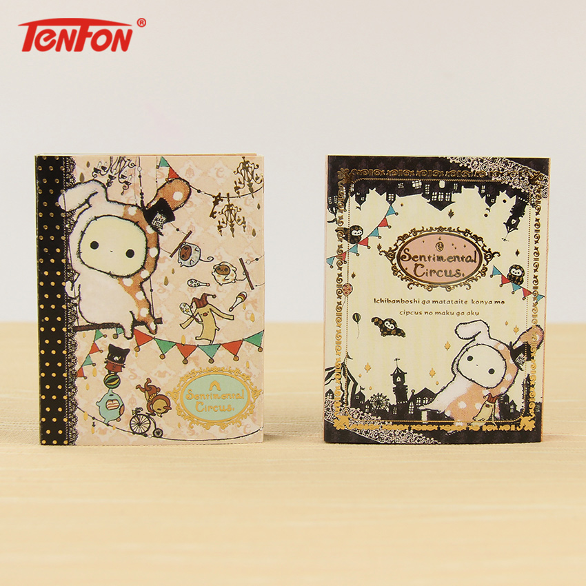 1 PC Kawaii Sentimental Circus Rabbit Memo Pad 6 Fold Sticky Note Pad Post It Note Paper Stickers Korean Stationery
