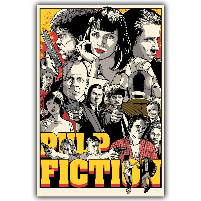 T-475 Pulp Fiction Classic Movie Hot Girl Art Poster Silk 30 24x36