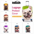 2016 Brand Luggage Cover Animal Design Bulldog 3D Printed Suitcase Protective Cover for 13-30 inch Cut Dog Eletric Rain Covers