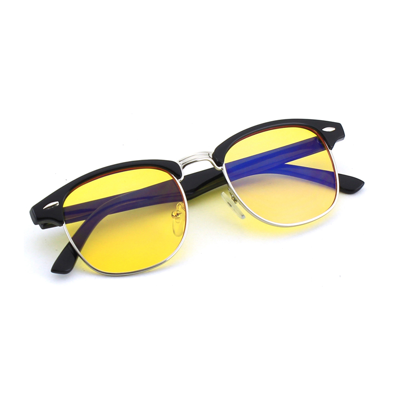 d54fc12ee9 CGID Unisex Classic Design Blocking Blue Light 100% UV400 Protection  Computer glasses Half Frame Yellow lens CY56 -in Eyewear Frames from  Apparel ...