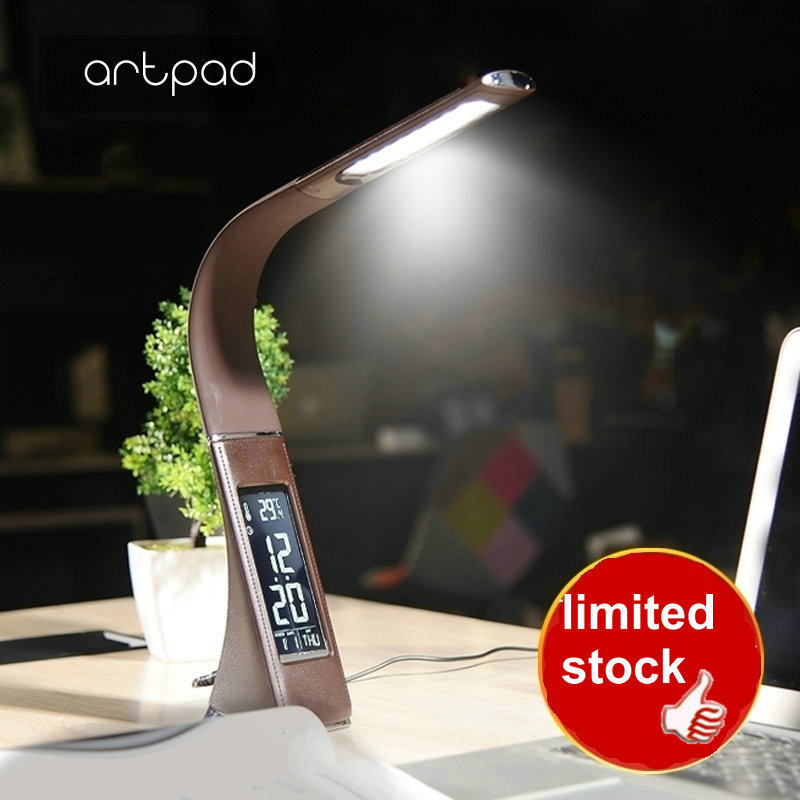 Artpad Touch Control 5w Eye Care Office Study Bedroom Beside Table lamp Modern Leather LED Light Desktop Three Grade  brightnesArtpad Touch Control 5w Eye Care Office Study Bedroom Beside Table lamp Modern Leather LED Light Desktop Three Grade  brightnes