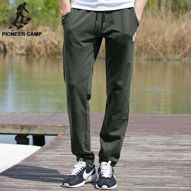 Pioneer camp 2017 nueva ropa de moda casual para hombre pantalones joggers pantalones de sudadera con capucha de los hombres ropa de algodón suave activa 677015