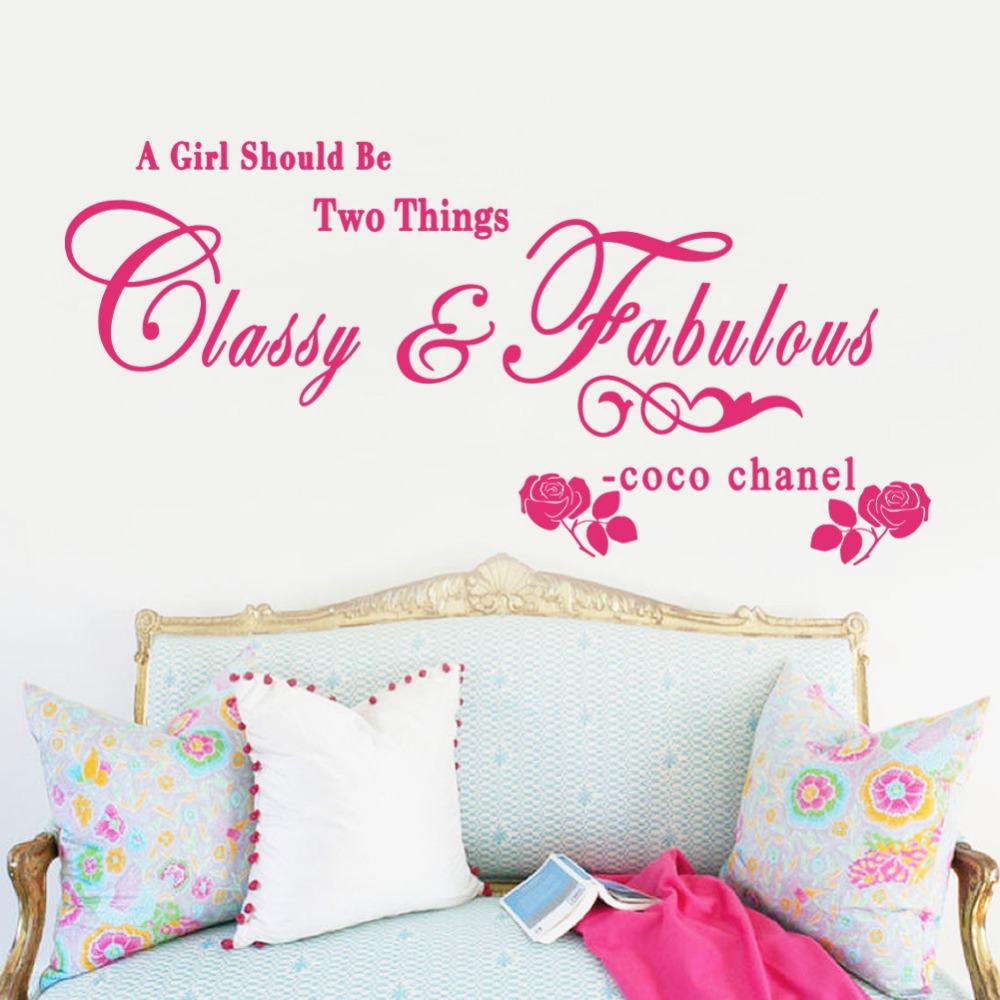 Coco Channel What Girls Should Be Living Room Bedroom Wall Stickers Home Decoration Wholesale Waterproof Removable
