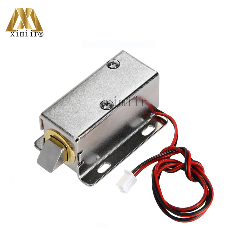 MINI 12V Electric Cabinet Lock Electronic NO Type Fail Secuirty Cabinet Lock Small Electric Lock Free Shipping Door Control Lock free shipping 10pcs diy abs material dc12v supermarket cabinet lock cabinet lock drawer small electric lock