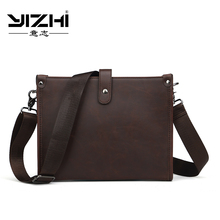 YIZHI2018 Business Men's Briefcase High Quality Buckle PU Leather 10 Inch IPAD Tablet PC Bag Portable Tote