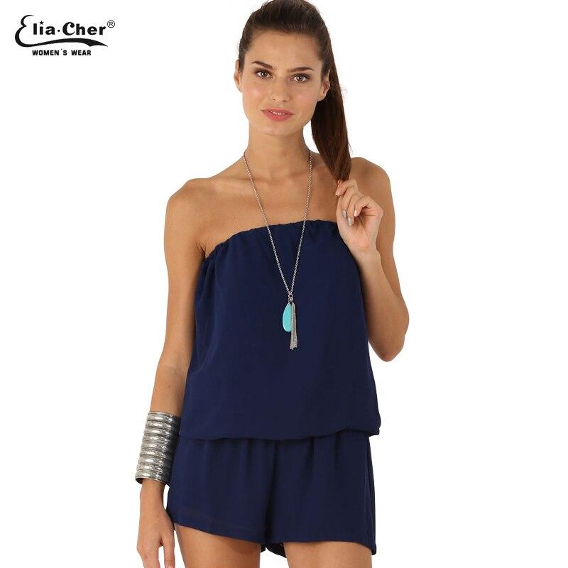 100% QualitäT Strampler Overalls Beiläufige Frauen Kleidung Chic Elegante Trägerlosen Overall Strampler Lady Jumpsuit 8168