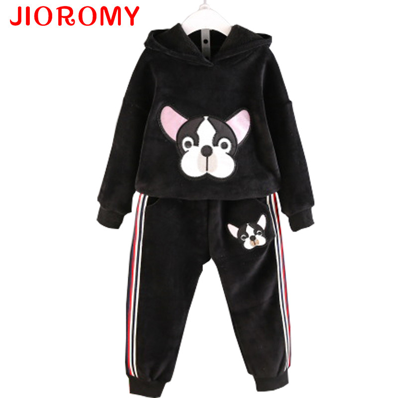 JIOROMY Baby Girls Clothes Set 2017 Winnter Winter Cashmere Animal Cartoon Sweater + Cas ...