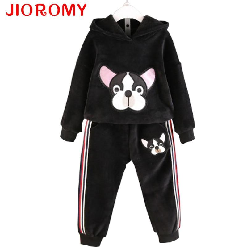 JIOROMY Baby Girls Clothes Set 2017 Winnter Winter Cashmere Animal Cartoon Sweater + Cas ...