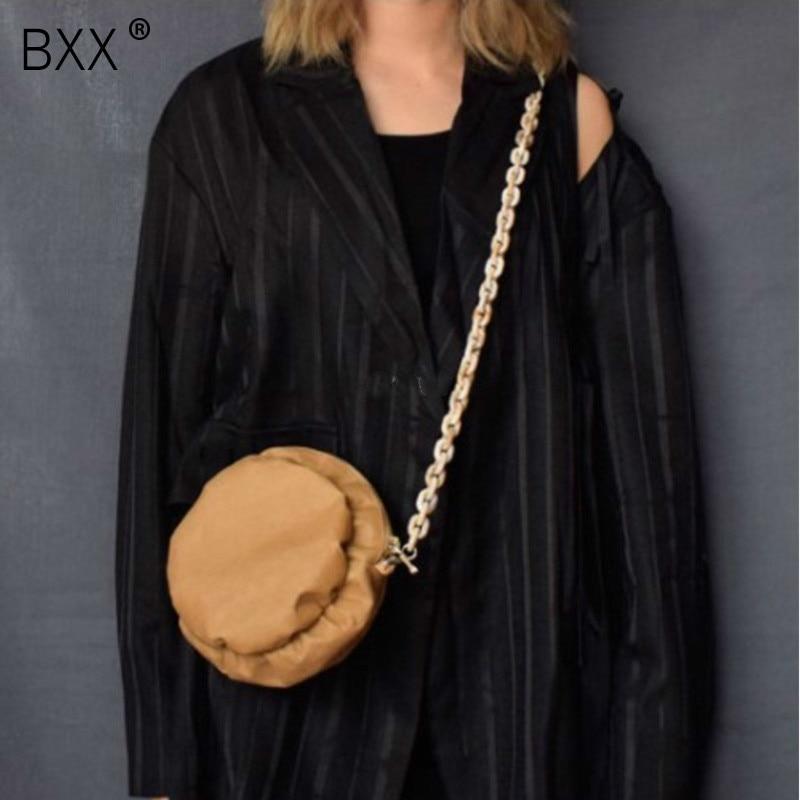 [BXX] 2020 Original Design Circle Shape Waterproof Acrylic Single Strap Wash Kraft Paper Woman Messenger Bag LM890