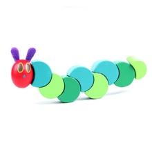 1 Pcs Twist Caterpillar DIY Wooden Toy Baby Kids Creative Educational