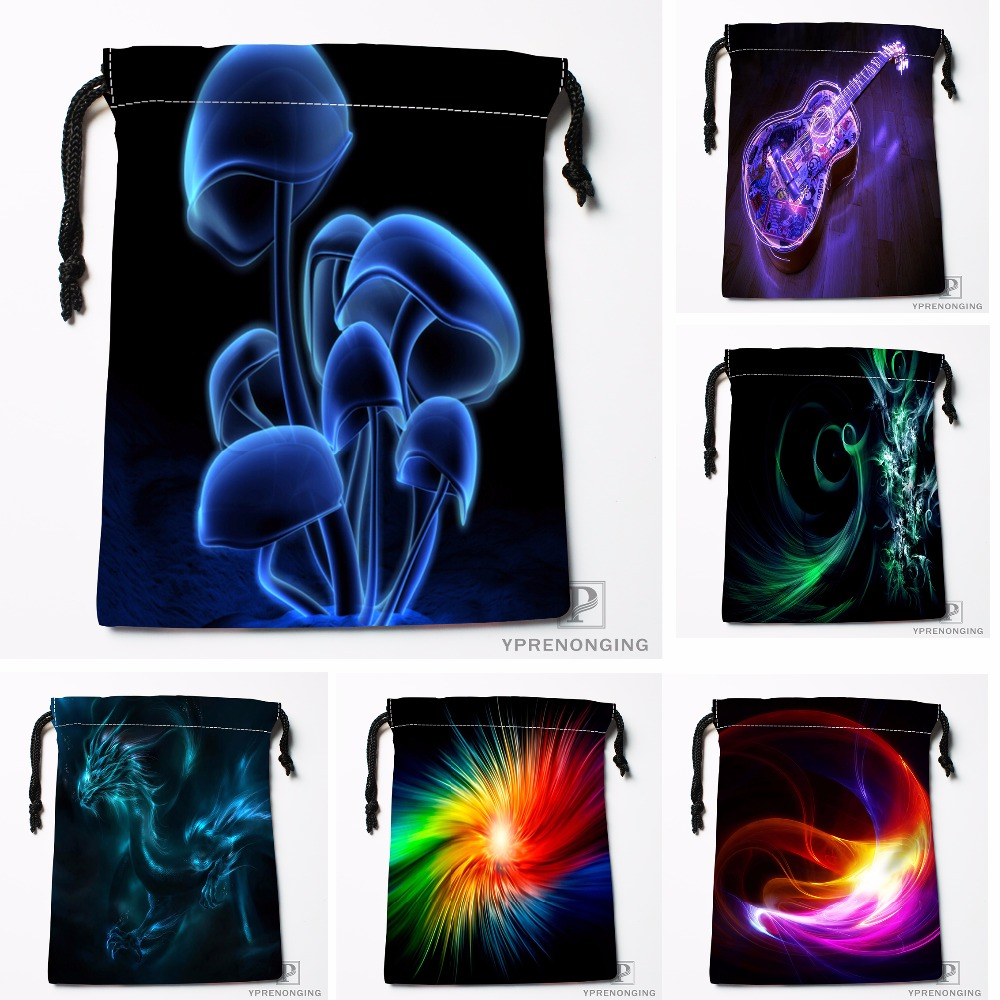 Custom Fashion Popular 3D Mushrooms Drawstring Bags Travel Storage Mini Pouch Swim Hiking Toy Bag Size 18x22cm#0412-04-210