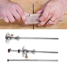 Règle de jauge de marquage de traçage du bois en acier inoxydable, outil de charpentier de traçage