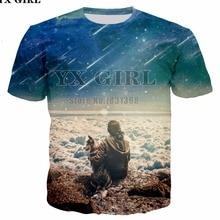 YX GIRL 2018 Naujas moteriškas marškinėliai Astrout Linksmas Trumpa apranga Juokingi 3D spausdinimo marškinėliai Vasaros viršūnės Tees Plus S-5XL