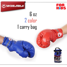 PU Leather Sport Fitness Boxing Kickboxing Training Fighting Sandbag Gloves for Fighters 6 oz with Nice Carry bag Kids Children