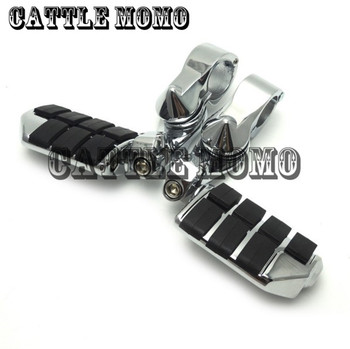 "32mm (1-1/4"")(1.25"") 360 degree Adjustable Short Highway Motorcycle Foot Pegs Foot Rests Footrest For Shadow Goldwing GL1800"