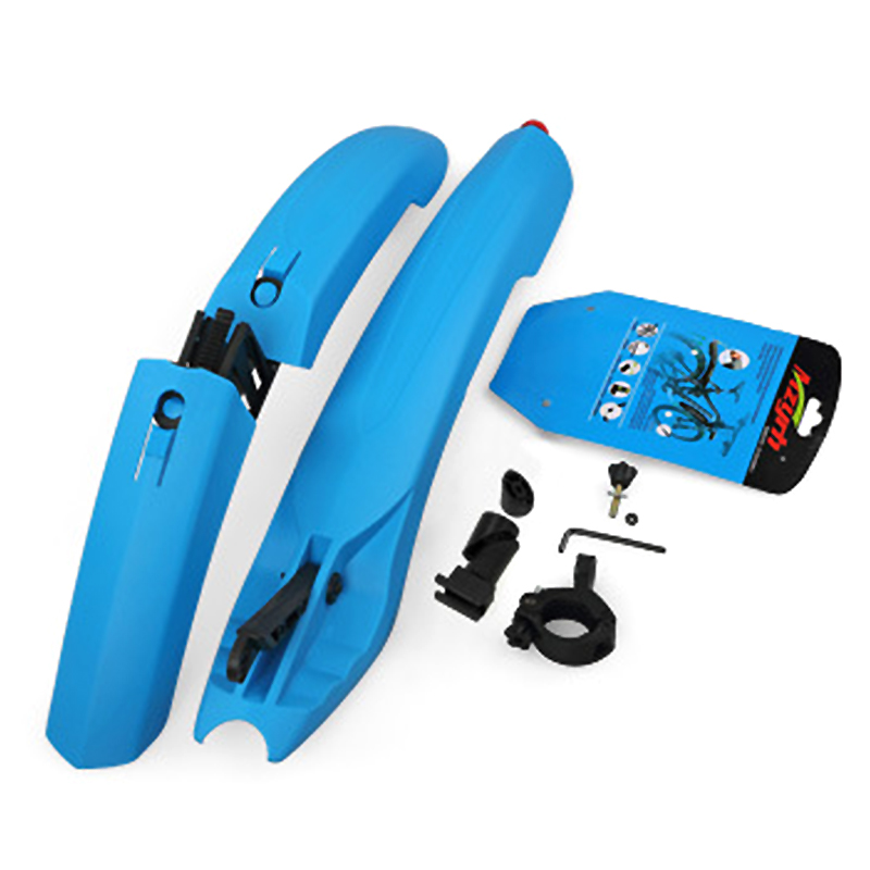 2017 Mountain Bike <font><b>Fenders</b></font> Quick Release Front Rear LED Mudguard Plastic 6 Colors Cycling Bicycle <font><b>Fenders</b></font> With Led Warn Light