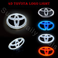 Novelty Light Auto Toyota emblem Badge Sticker Lamp LED Cold Light for Toyota VIOS YARIS RAV4 EZ Highlander Camrys 4d logo light