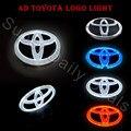 Novelty luz auto toyota emblema do emblema etiqueta lâmpada led de luz fria para Toyota VIOS YARIS RAV4 Camrys EZ Highlander 4d logo luz