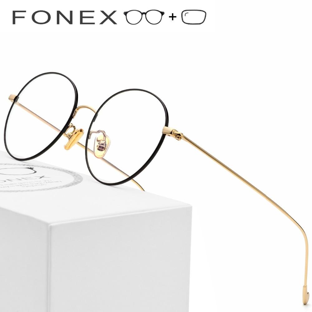 Reinem Titan Brillen Rahmen Männer Retro Frauen Runde Brillen Neue ...