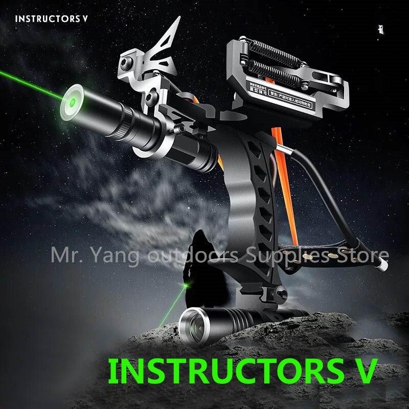 Powerful Catapult Full Set Fishing Slingshot Arrow Laser super strong Hunting