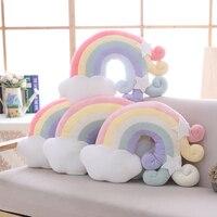 Fantastic Sky Series Pillow Stuffed Moon Shooting Star Rainbow Plush Toys Soft Shell Cushion Bedroom Sleeping Pillow