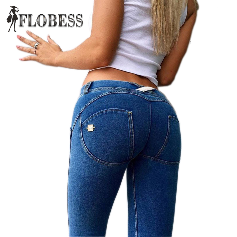 New 2017 Autumn Europe Style Fashion Skinny Jeans Pants Women Slim Sexy Ladies Denim Pencil Pants Pockets Double Button 2017 new style europe