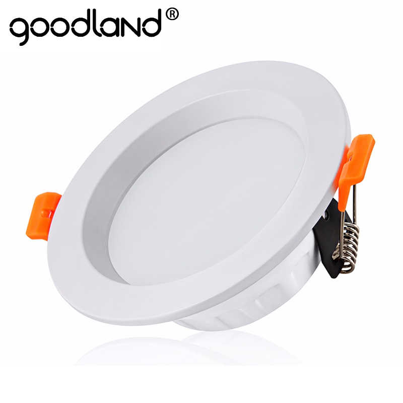 Goodland LED Downlight 220V focos Led techo 3/5/7/9/12/15/18W Spot Lighting Down Light con conductor para decoración del hogar