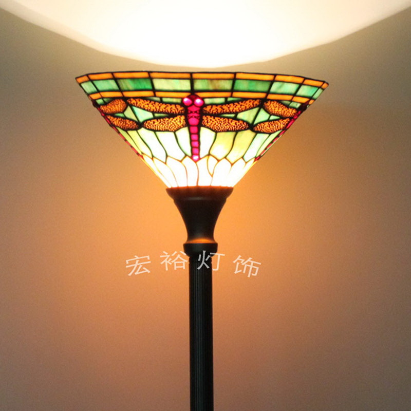 Dragonfly Green Shade Floor Lamp