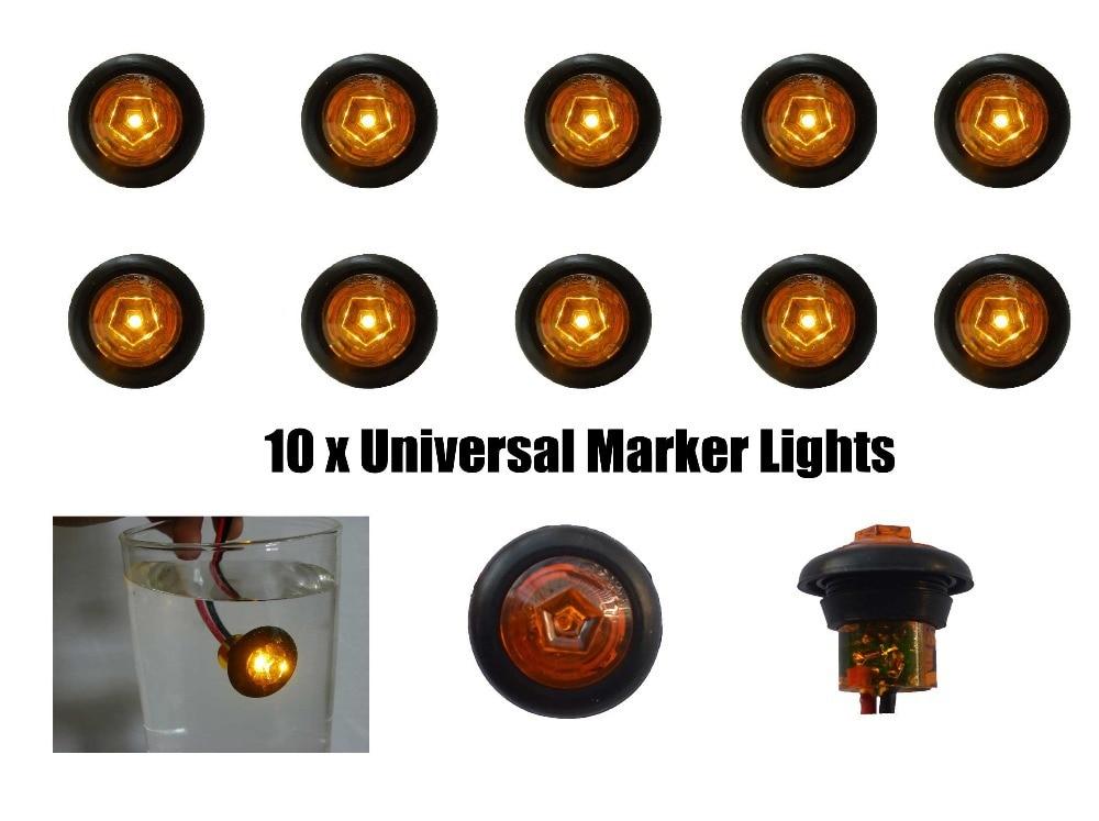 amber mini side marker lights truck led lights trailer marker light truck clearance lights universal 933vin car light assembly from
