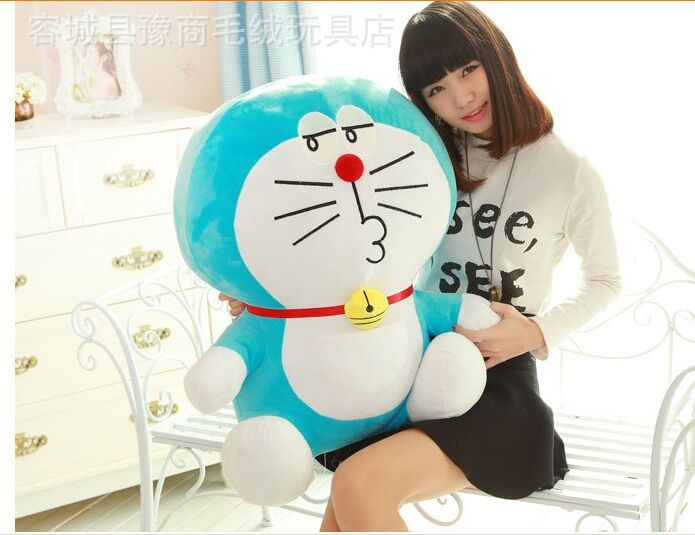 free shipping, stuffed toy Doraemon large 60cm plush toy soft toy throw pillow,birthday gift h463 free shipping about 60cm cartoon totoro plush toy dark grey totoro doll throw pillow christmas gift w4704