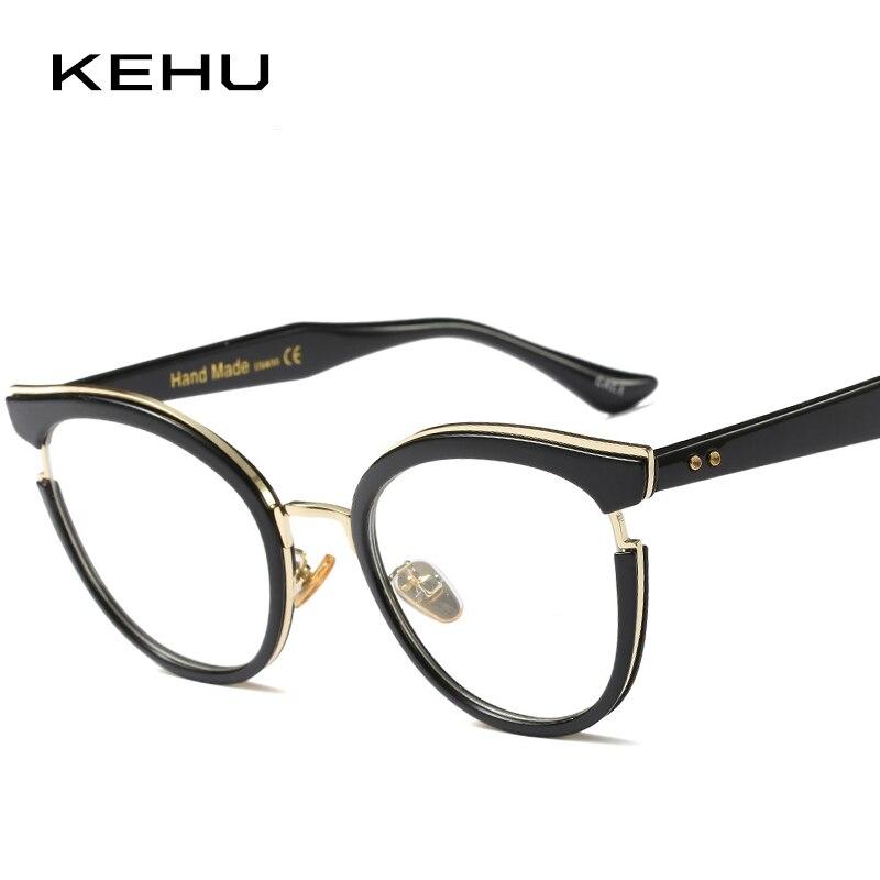 Brillenrahmen UnabhäNgig Kehu Hohe Qualität Vintage Runde Brille Frauen Ausgestattet Werden Mit Myopie Linsen Ultraleicht Brillen Rahmen Damen Brillen Kh95 Letzter Stil